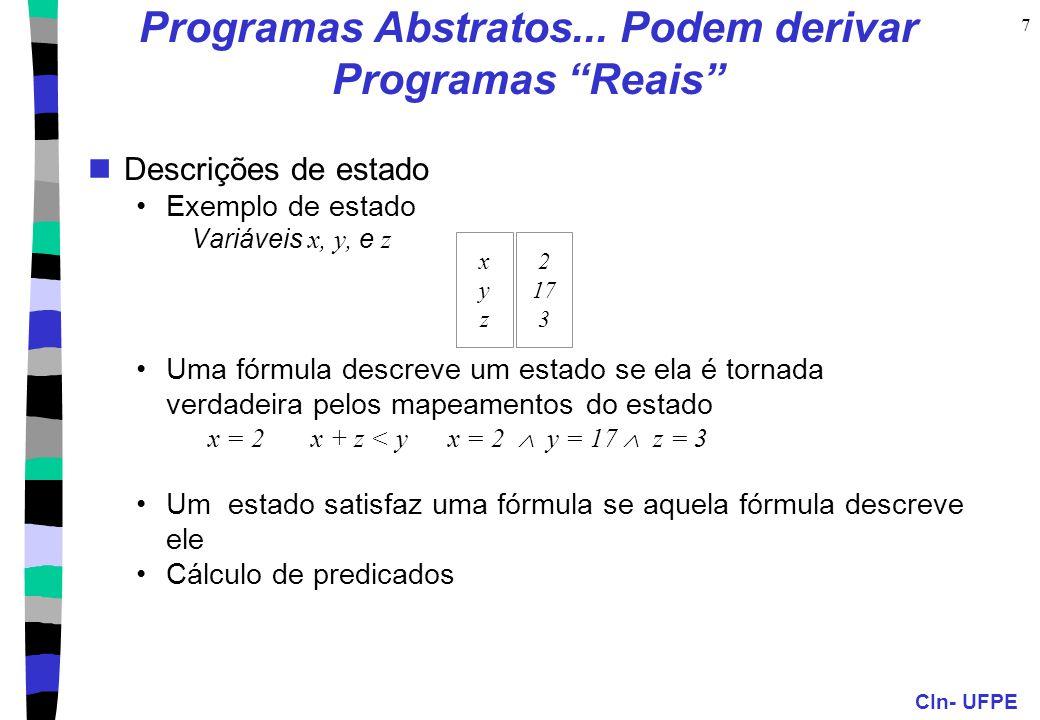 Programas Abstratos... Podem derivar Programas Reais