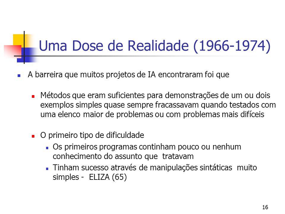 Uma Dose de Realidade (1966-1974)