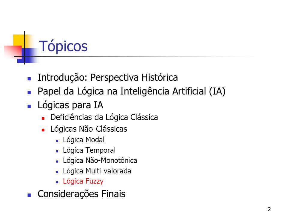 Tópicos Introdução: Perspectiva Histórica