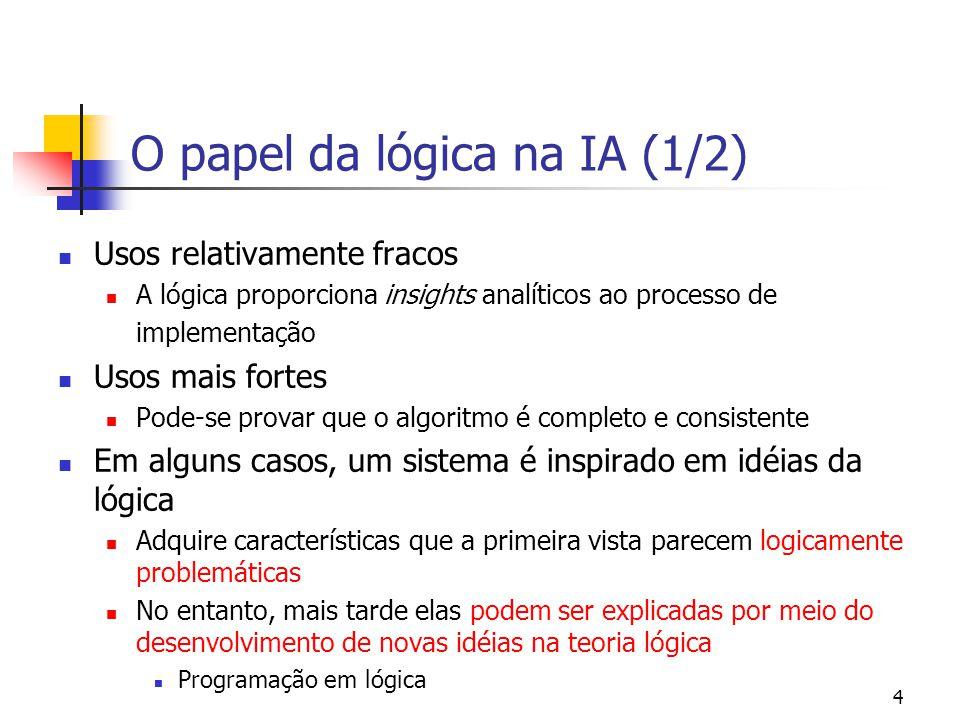 O papel da lógica na IA (1/2)