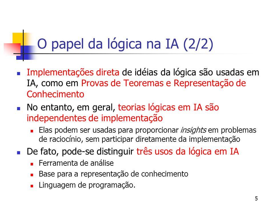 O papel da lógica na IA (2/2)