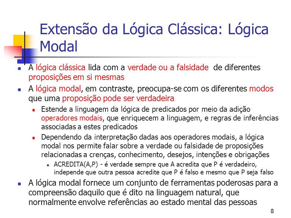 Extensão da Lógica Clássica: Lógica Modal