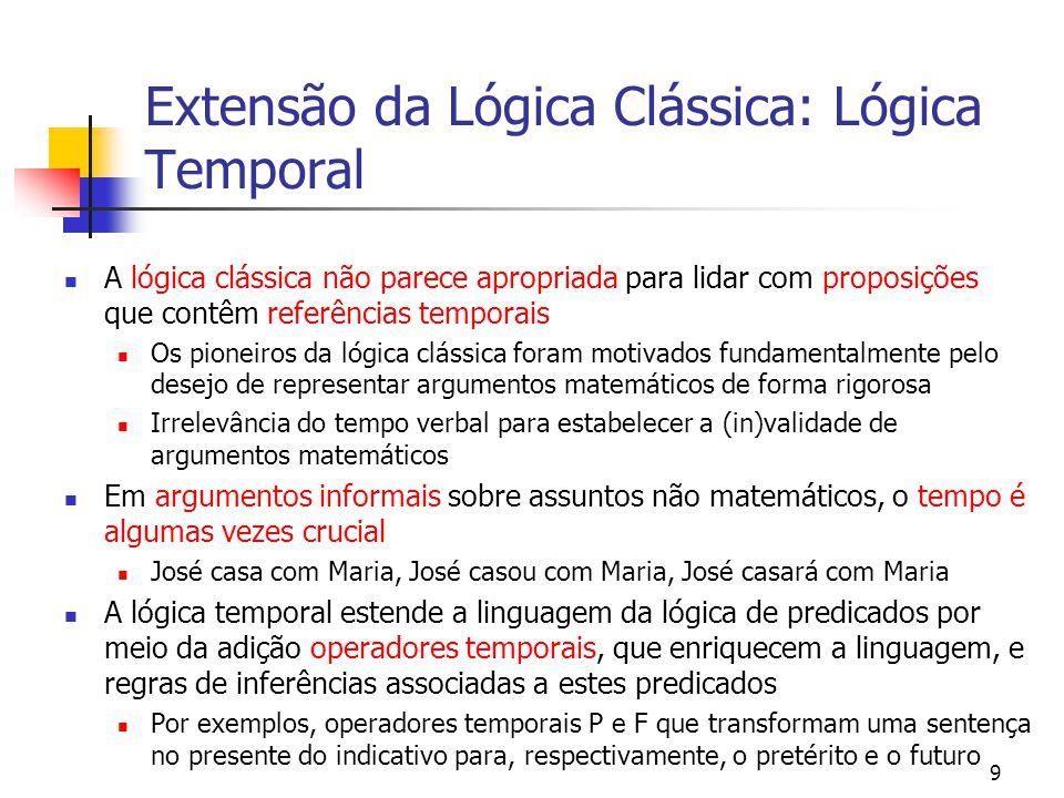 Extensão da Lógica Clássica: Lógica Temporal