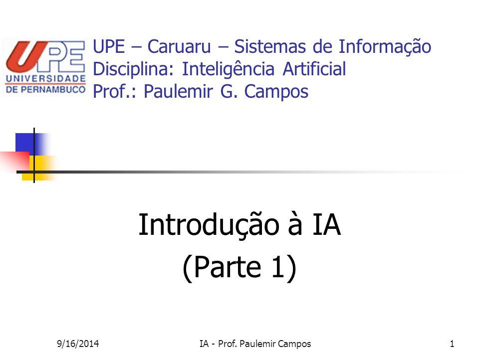Introdução à IA (Parte 1)