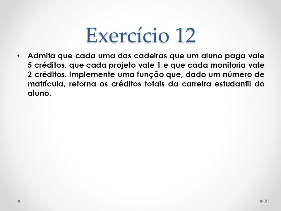 Exercício 12
