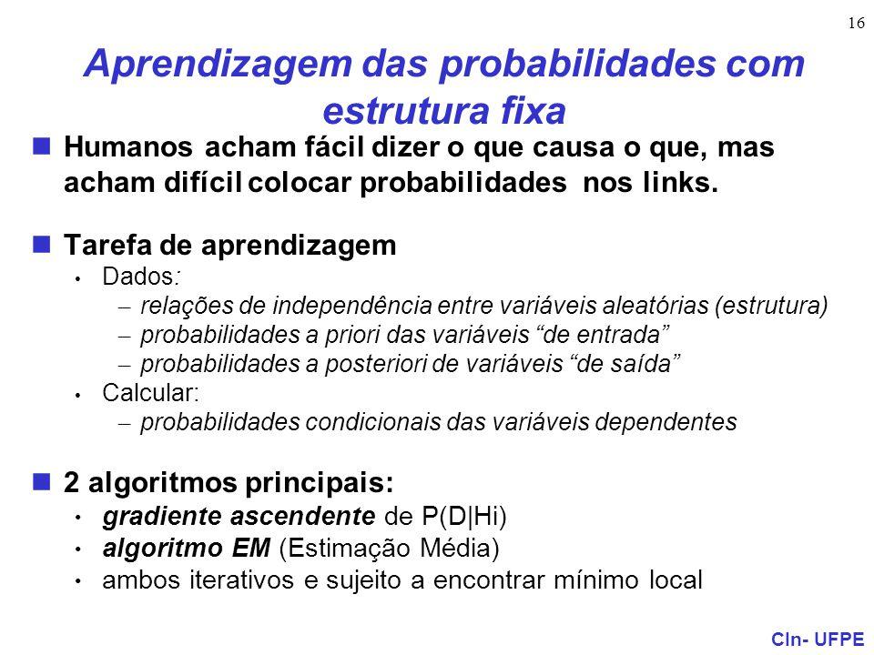 Aprendizagem das probabilidades com estrutura fixa