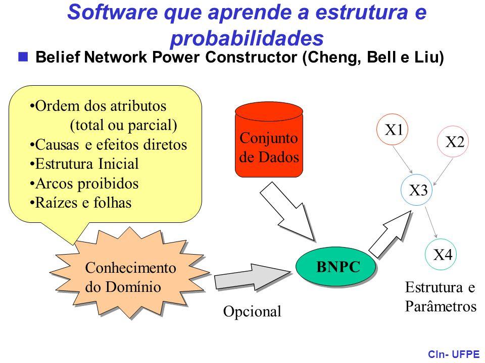 Software que aprende a estrutura e probabilidades