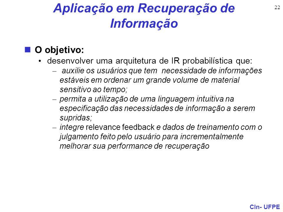 Aplicação em Recuperação de Informação