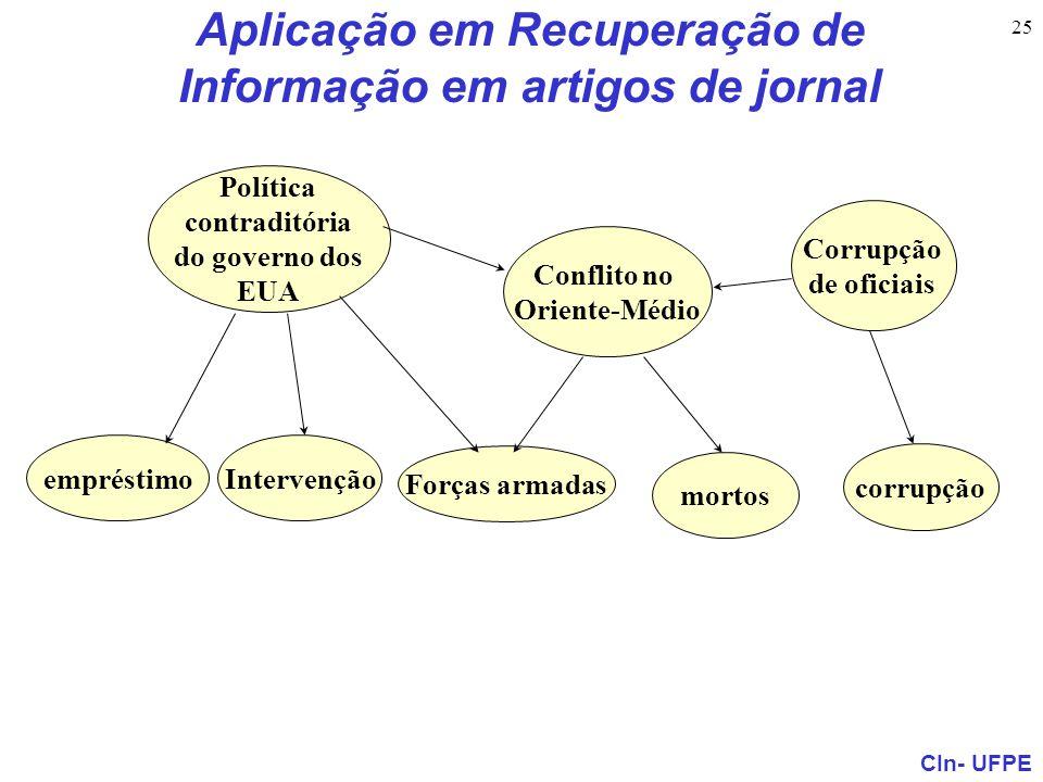 Aplicação em Recuperação de Informação em artigos de jornal
