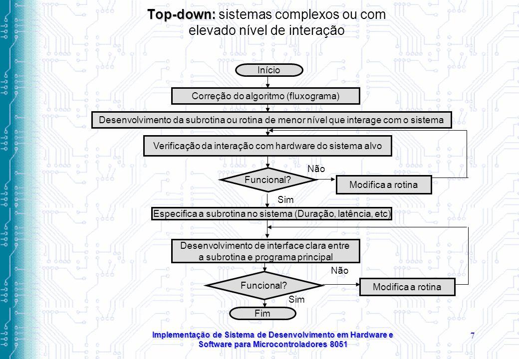 Top-down: sistemas complexos ou com elevado nível de interação