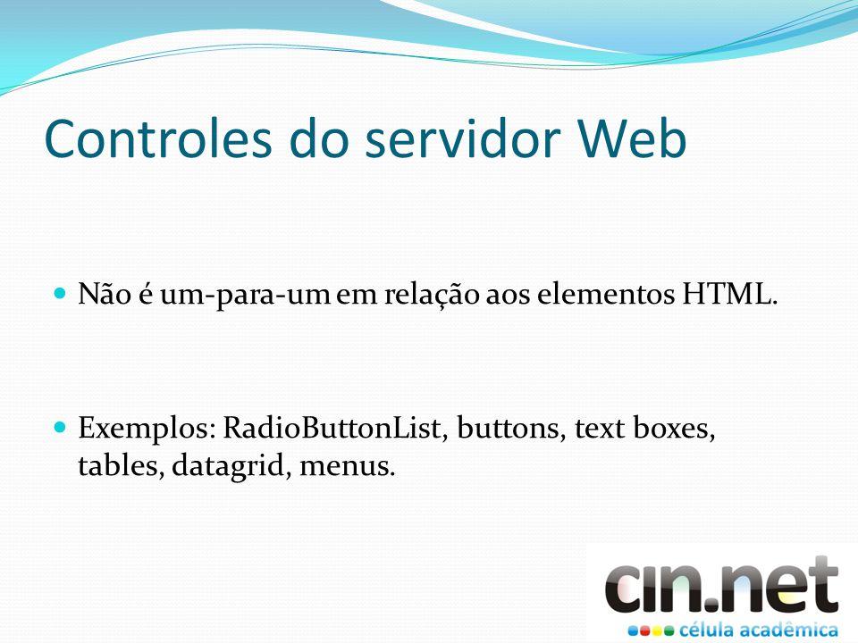 Controles do servidor Web