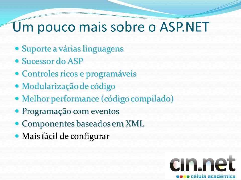 Um pouco mais sobre o ASP.NET