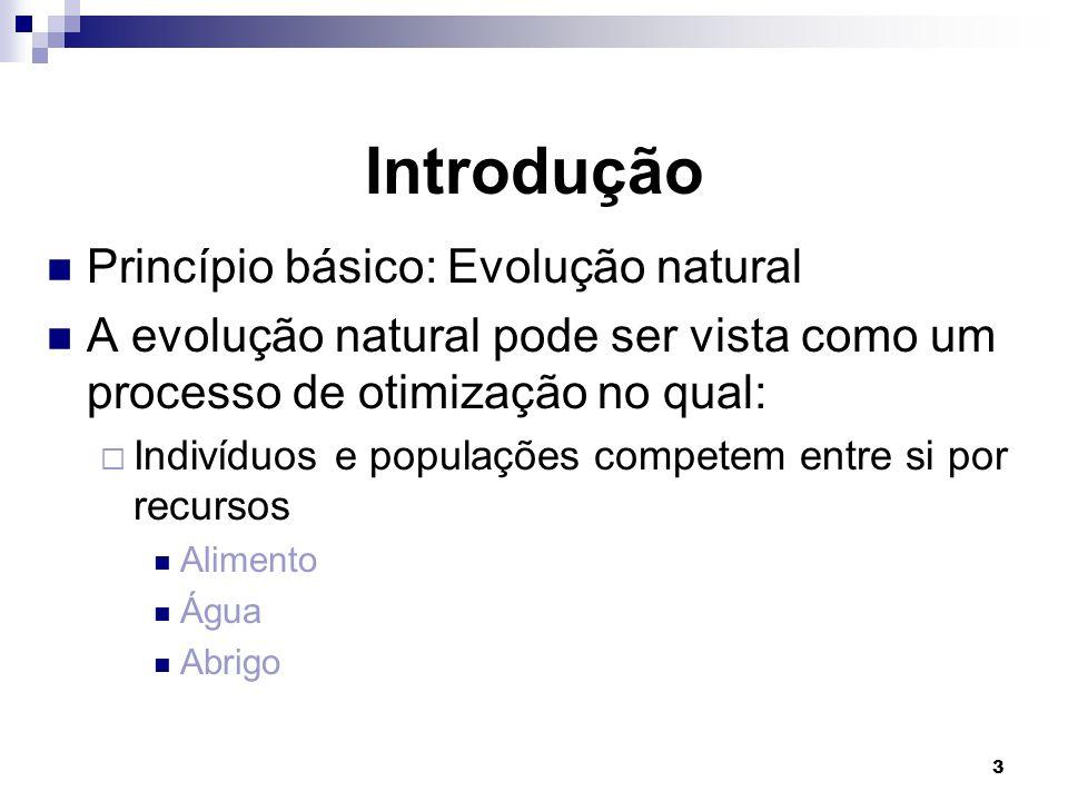 Introdução Princípio básico: Evolução natural