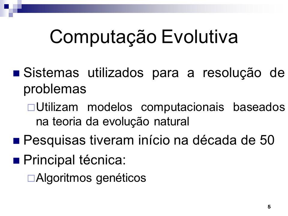 Computação Evolutiva Sistemas utilizados para a resolução de problemas