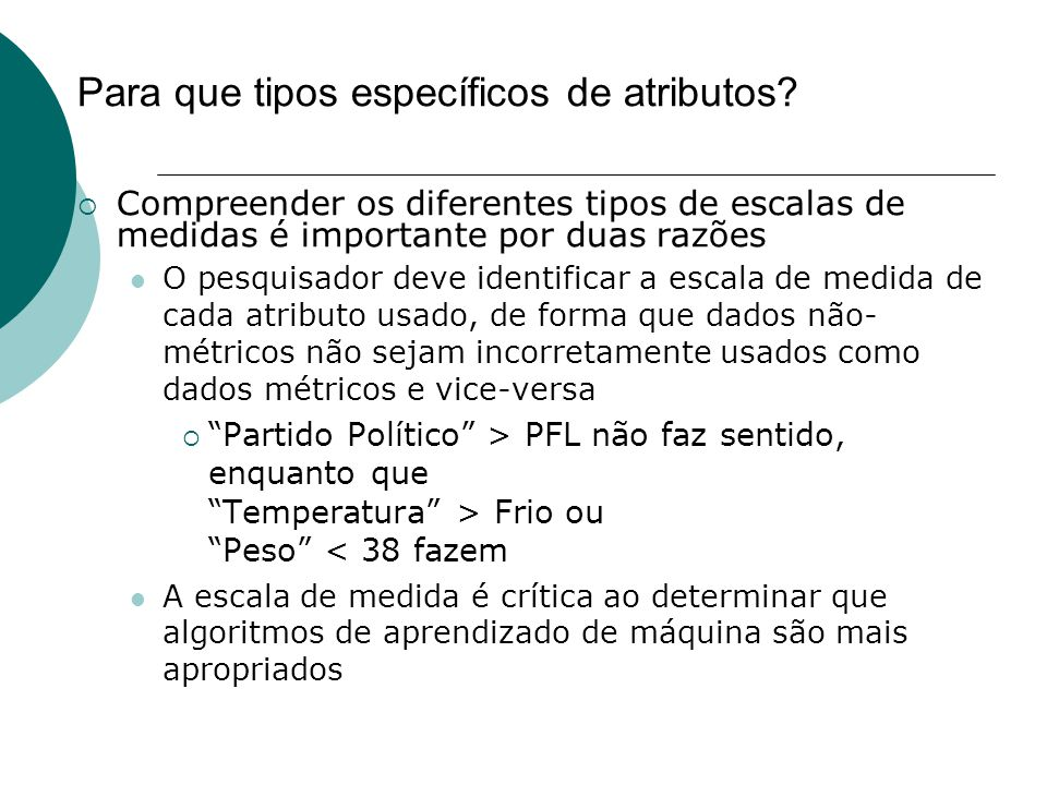 Para que tipos específicos de atributos