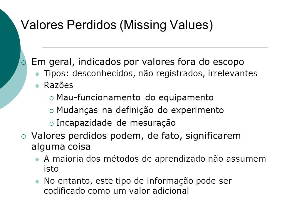 Valores Perdidos (Missing Values)