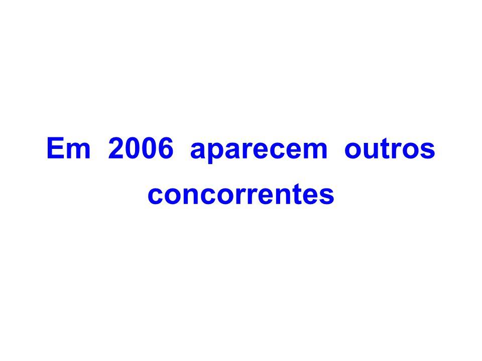 Em 2006 aparecem outros concorrentes