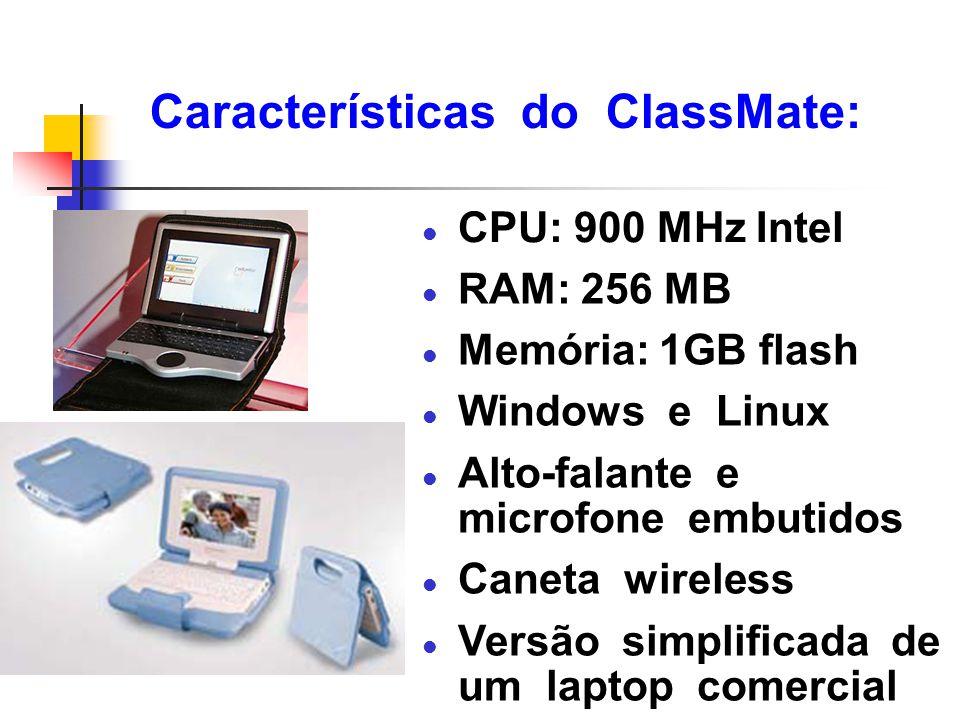 Características do ClassMate: