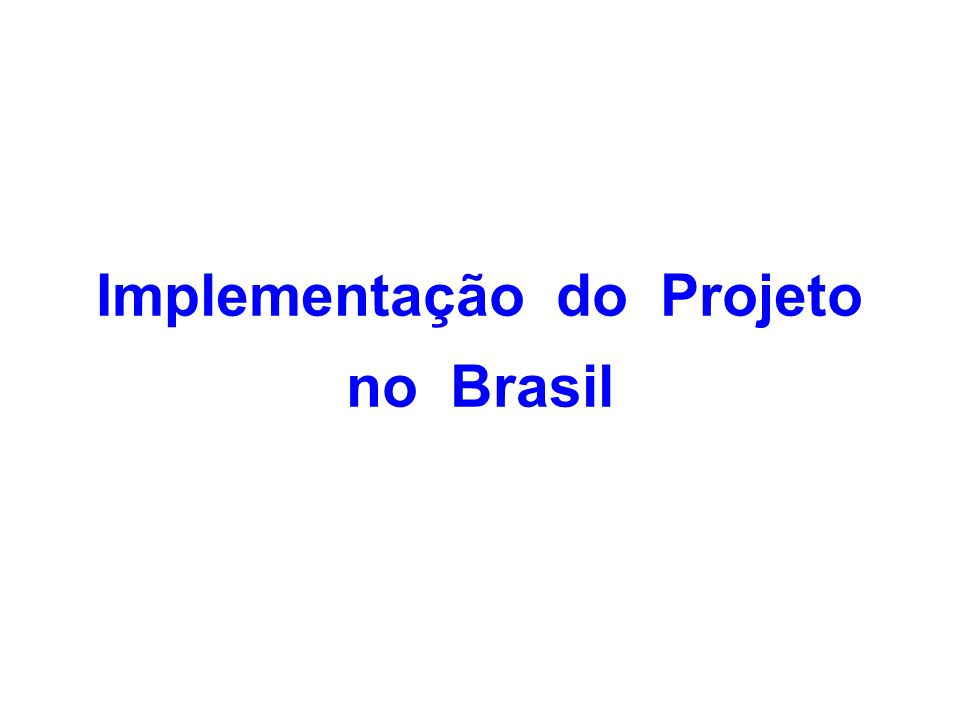 Implementação do Projeto no Brasil