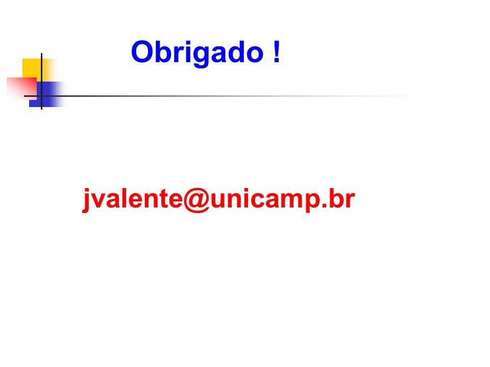 Obrigado ! jvalente@unicamp.br