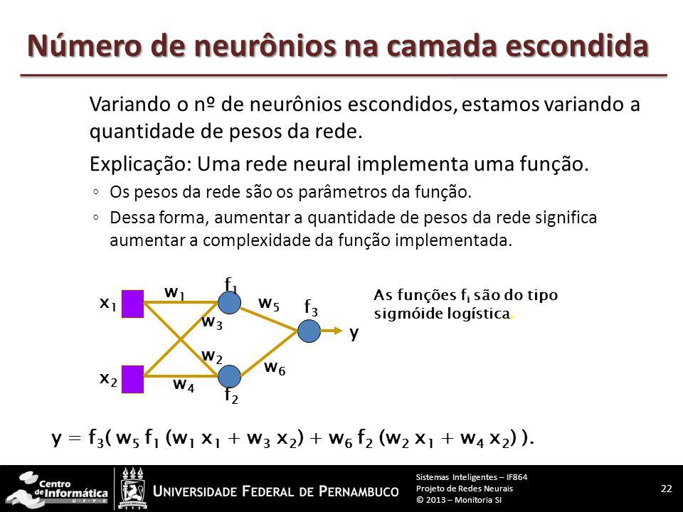 Número de neurônios na camada escondida