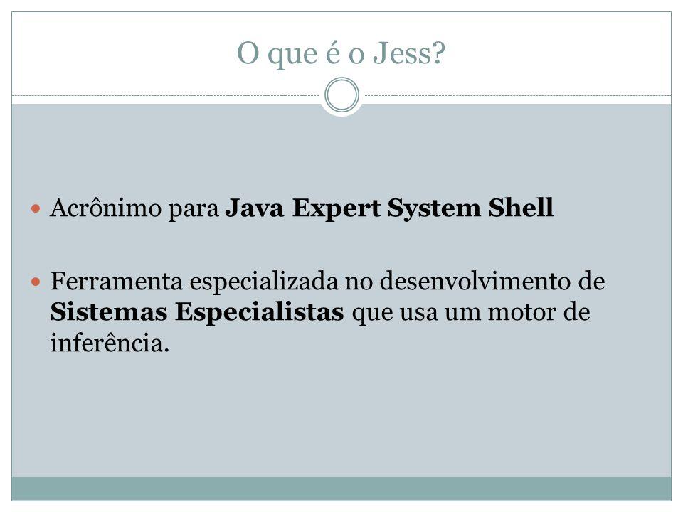 O que é o Jess Acrônimo para Java Expert System Shell