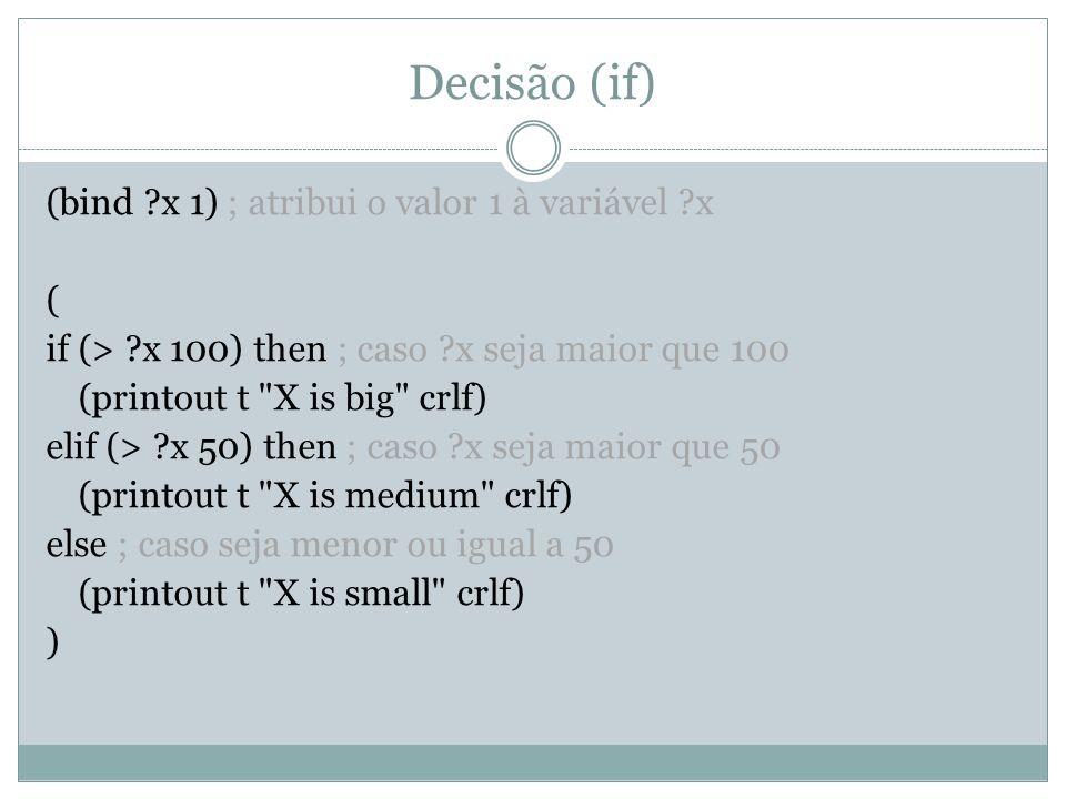 Decisão (if)