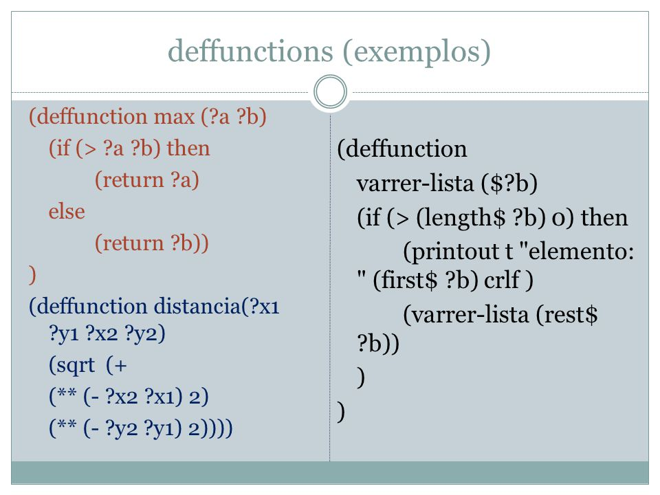 deffunctions (exemplos)