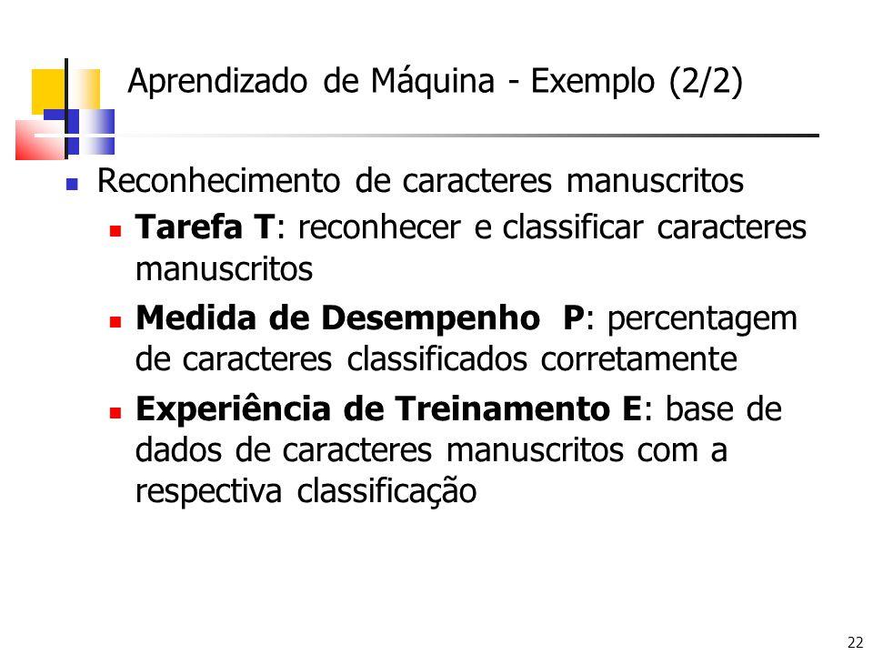 Aprendizado de Máquina - Exemplo (2/2)