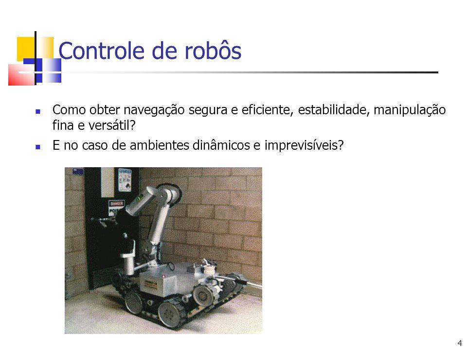 Controle de robôs Como obter navegação segura e eficiente, estabilidade, manipulação fina e versátil