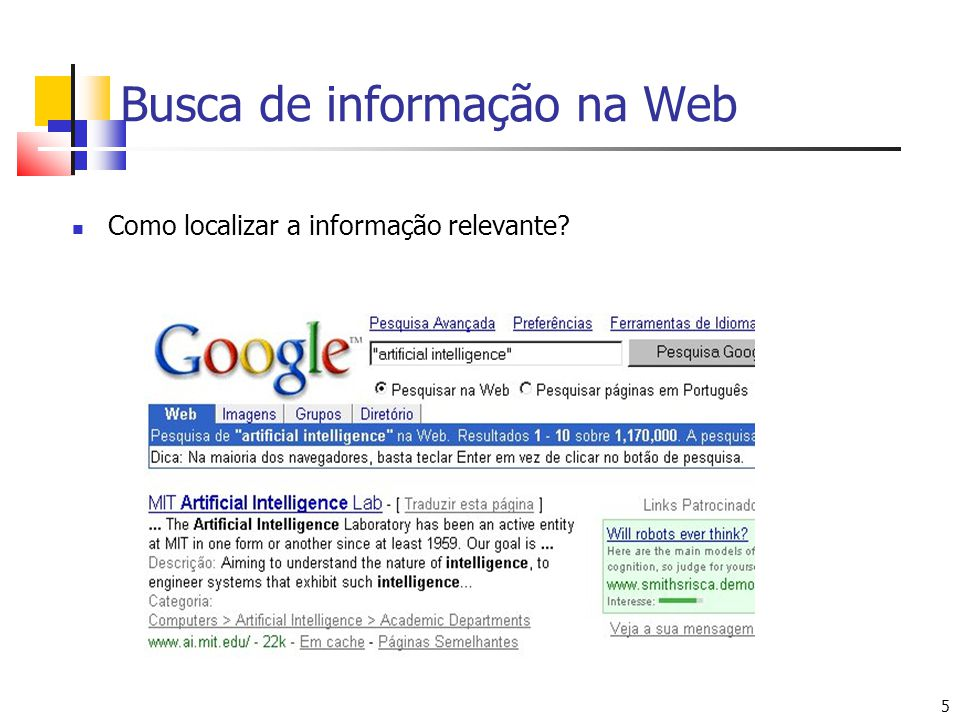 Busca de informação na Web