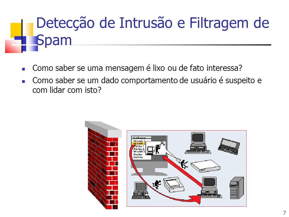Detecção de Intrusão e Filtragem de Spam