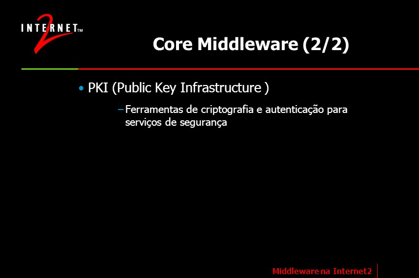 Core Middleware (2/2) PKI (Public Key Infrastructure )