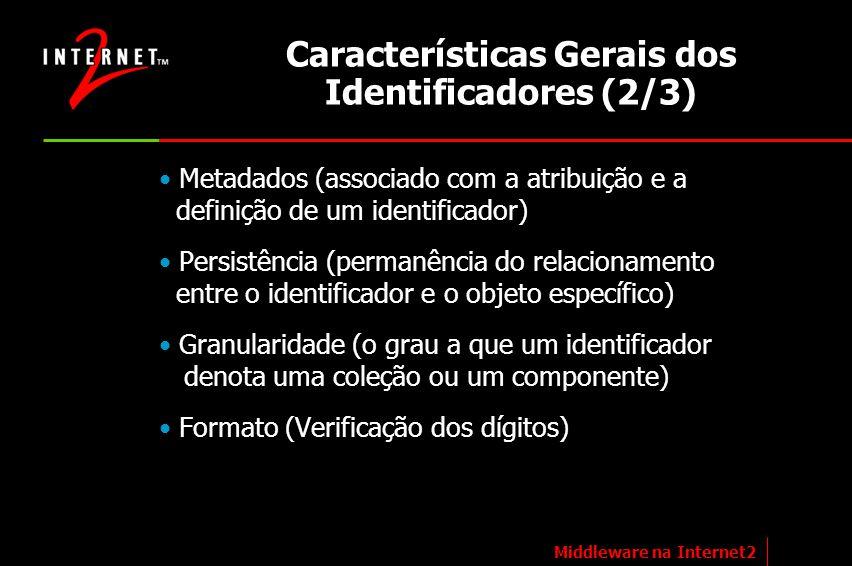 Características Gerais dos Identificadores (2/3)