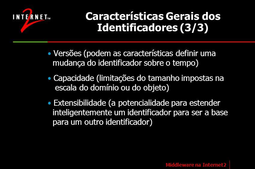 Características Gerais dos Identificadores (3/3)