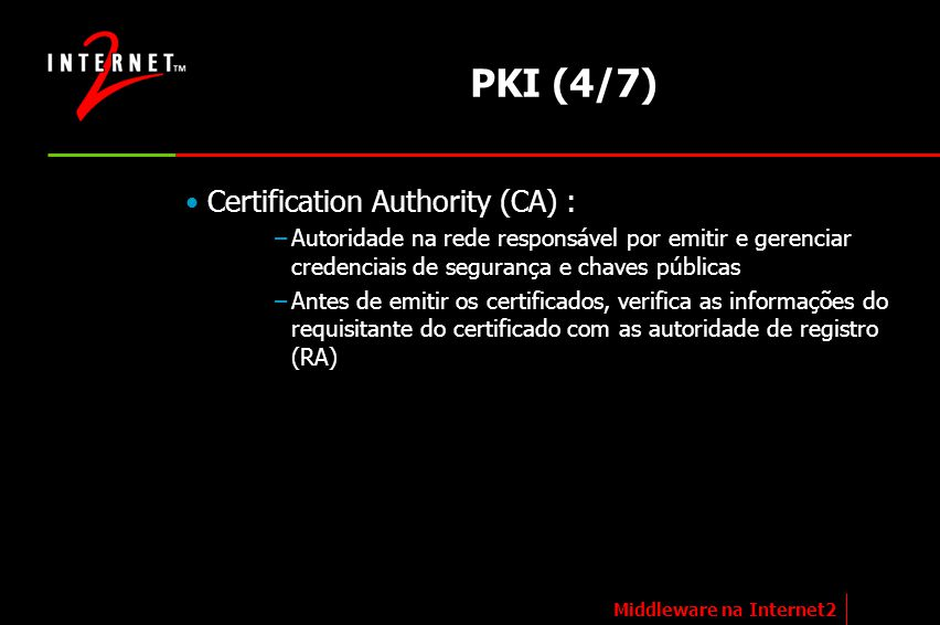 PKI (4/7) Certification Authority (CA) :