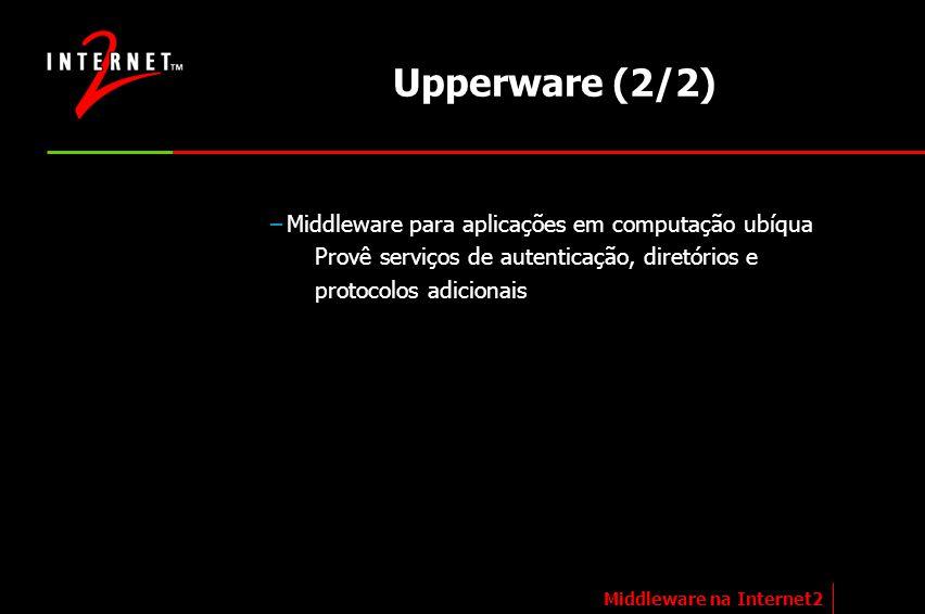 Upperware (2/2) Middleware para aplicações em computação ubíqua