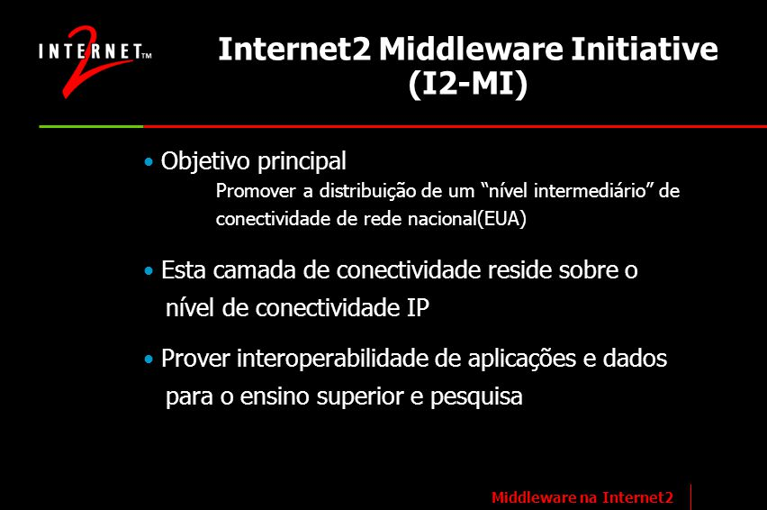 Internet2 Middleware Initiative (I2-MI)