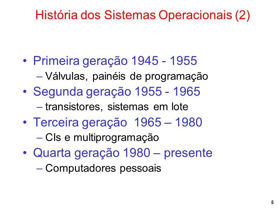 História dos Sistemas Operacionais (2)