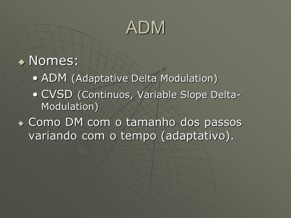 ADM Nomes: ADM (Adaptative Delta Modulation)