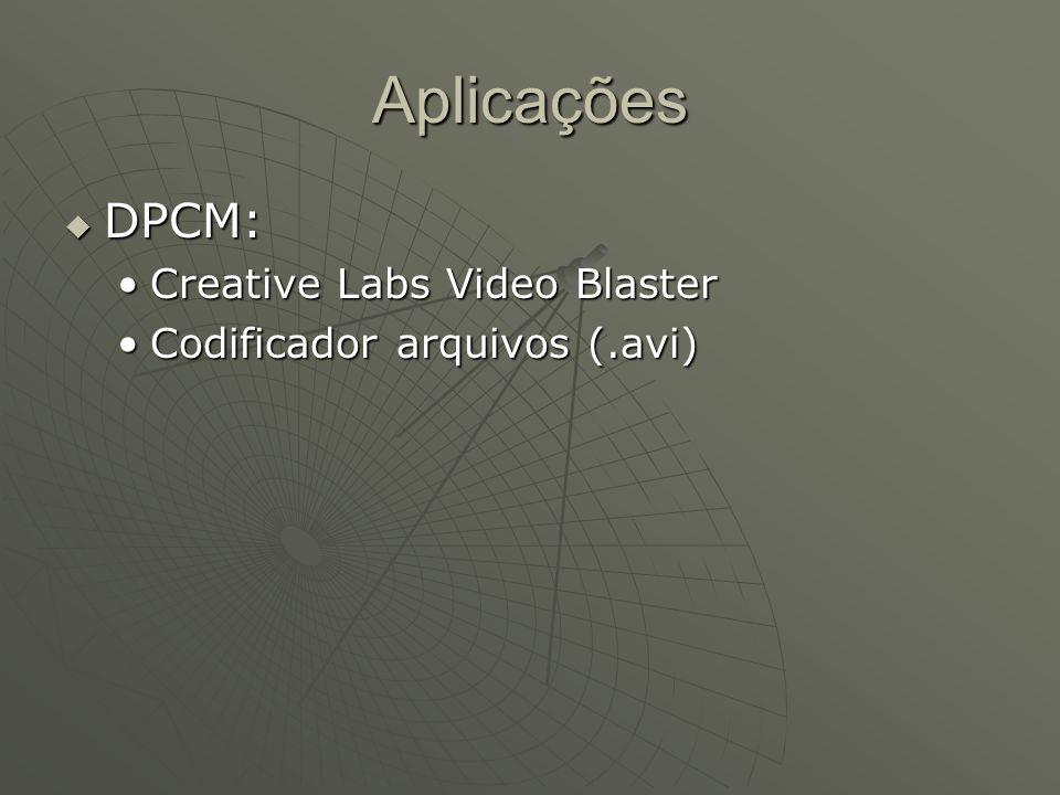 Aplicações DPCM: Creative Labs Video Blaster