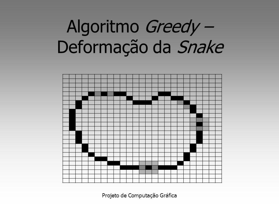 Algoritmo Greedy – Deformação da Snake