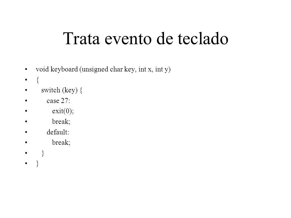 Trata evento de teclado