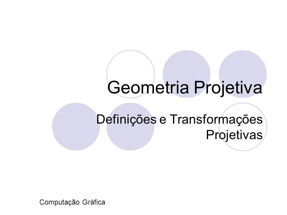 Definições e Transformações Projetivas