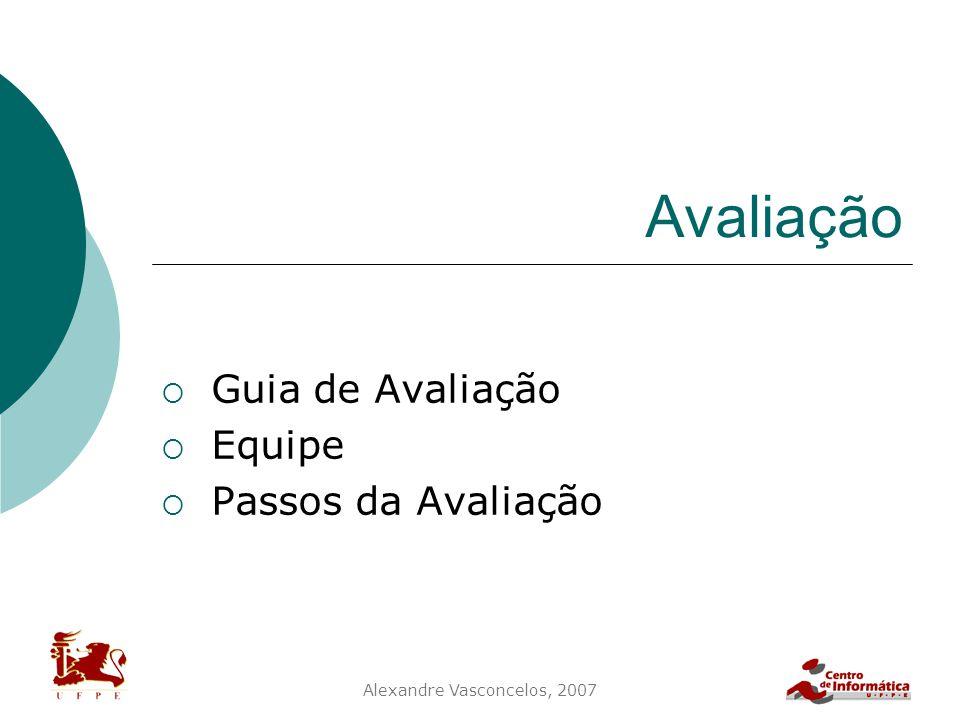 Guia de Avaliação Equipe Passos da Avaliação