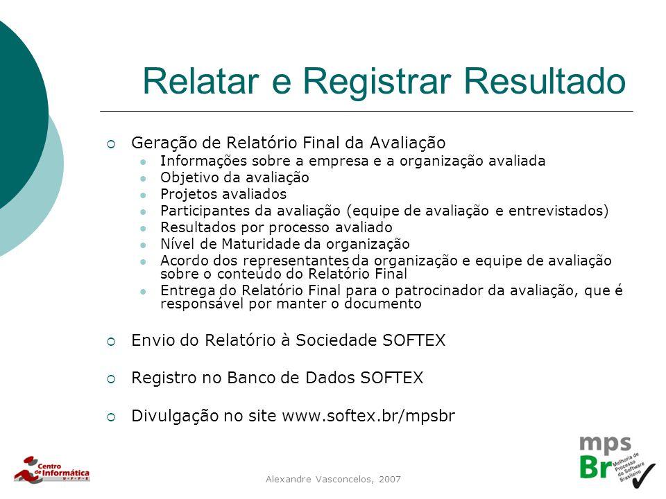 Relatar e Registrar Resultado