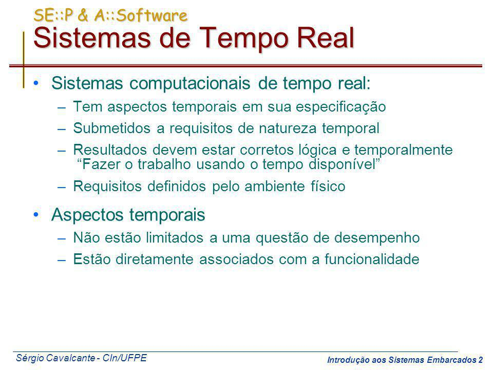 SE::P & A::Software Sistemas de Tempo Real