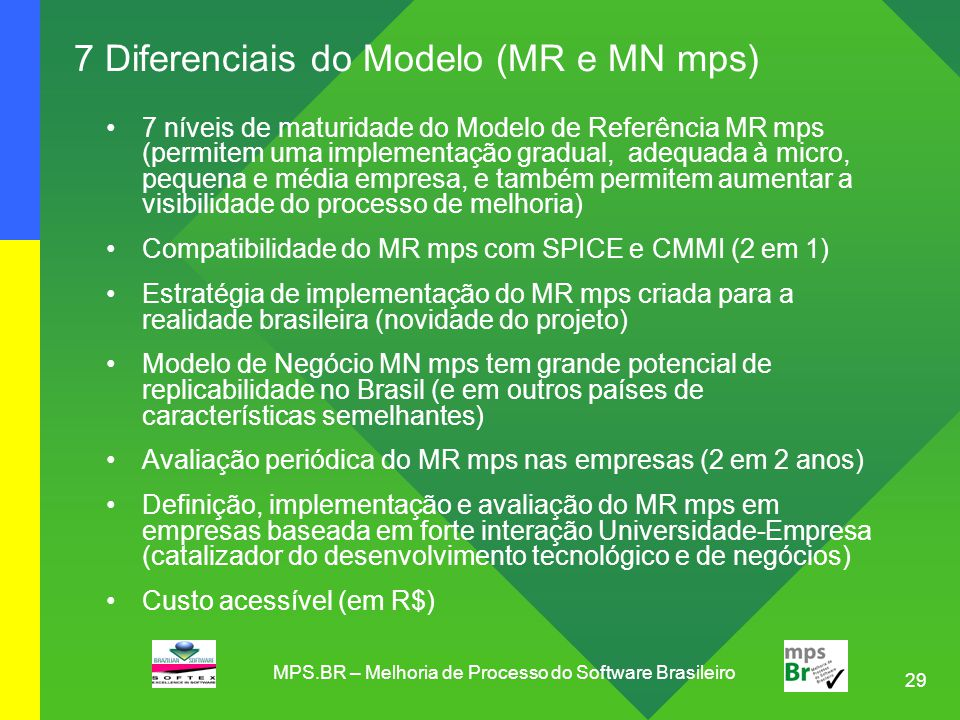 7 Diferenciais do Modelo (MR e MN mps)