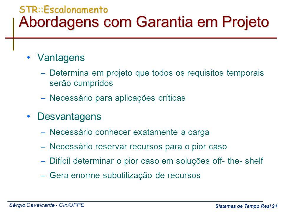 STR::Escalonamento Abordagens com Garantia em Projeto