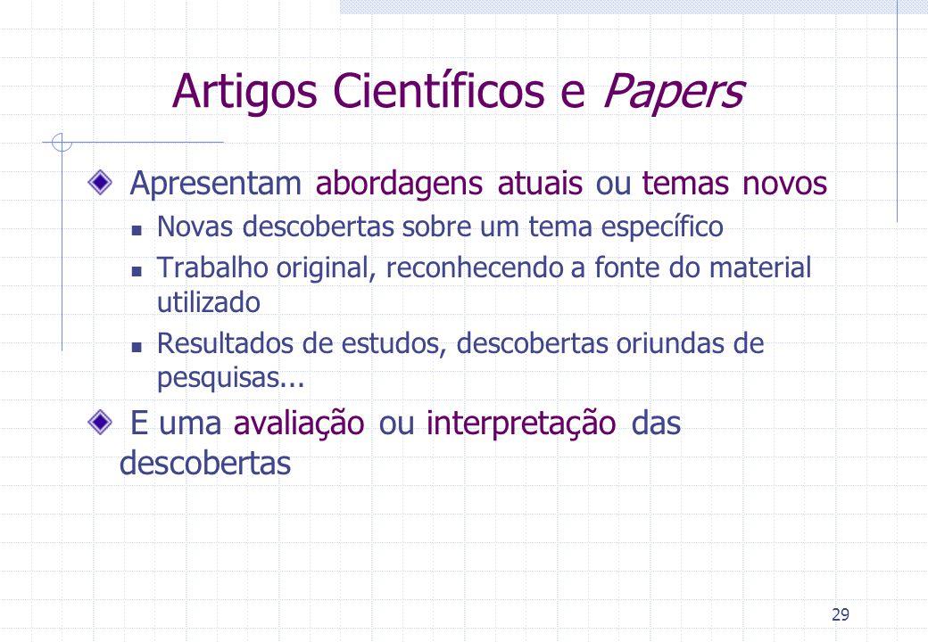 Artigos Científicos e Papers